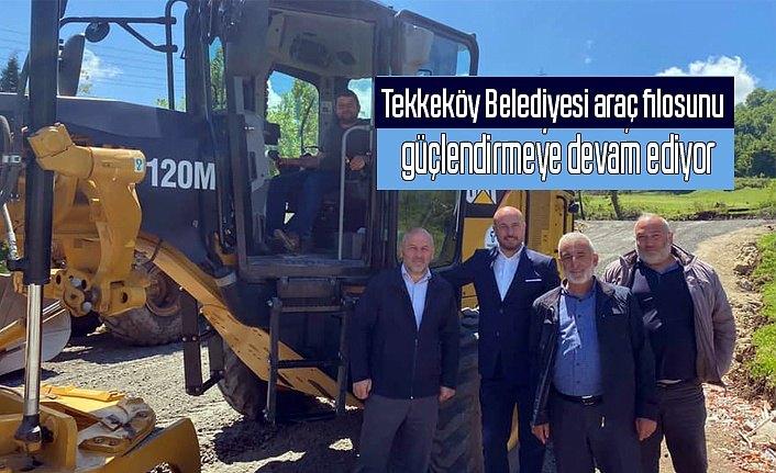 Tekkeköy Belediyesi araç filosunu güçlendirmeye devam ediyor
