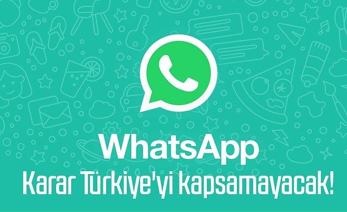 WhatsApp gizlilik sözleşmesi Türkiye'yi kapsamayacak!