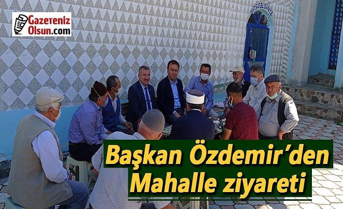 Havza Belediye Başkanı Özdemir'den mahalle ziyareti