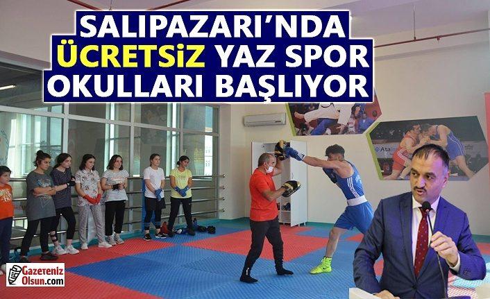 Salıpazarı'nda ücretsiz Yaz Spor Okulları kayıtları başladı