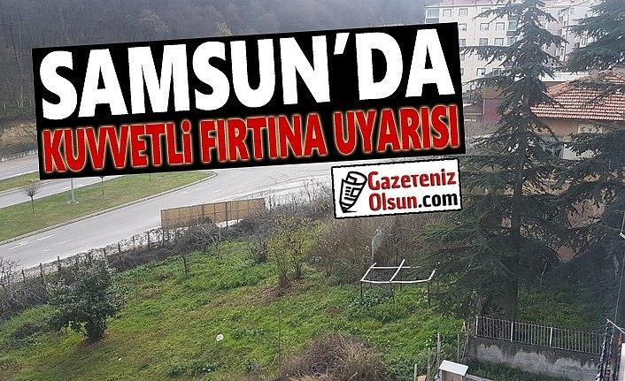 Samsun'da Kuvvetli yağış ve fırtına uyarısı
