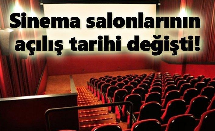 Sinema salonlarının açılış tarihi değişti!