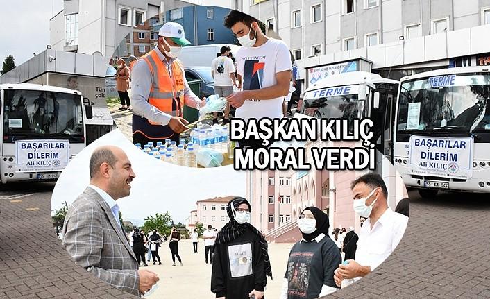 Terme Belediyesi YKS adaylarını yalnız bırakmadı
