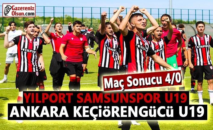Yılport Samsunspor U19- Ankara Keçiörengücü U19 Maç Sonu 4-0
