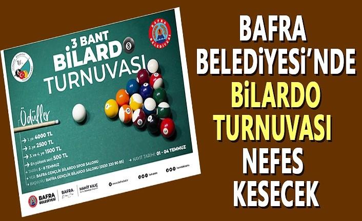 Bafra Belediyesi'nde Bilardo Turnuvası Nefes Kesecek