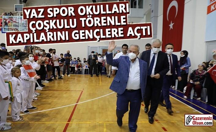 Başkan Demirtaş, Yaz Spor Okullarının Açılışını Yaptı