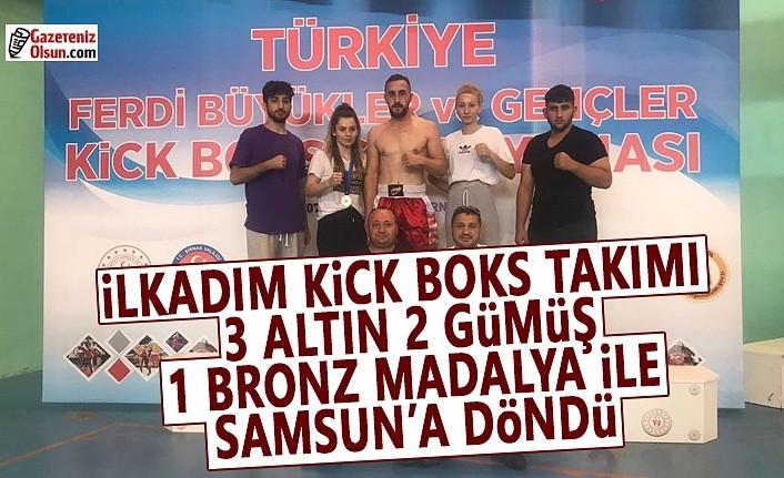 İlkadım Kick Boks Takımı Madalyalar ile Samsun'a Döndü