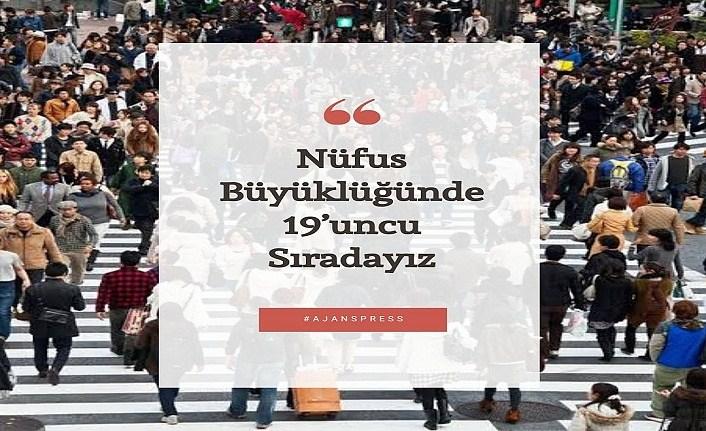 Türkiye nüfus büyüklüğünde kaçıncı sırada?