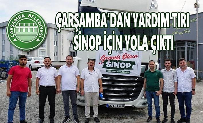 Çarşamba Belediyesi'nden Sinop'a yardım