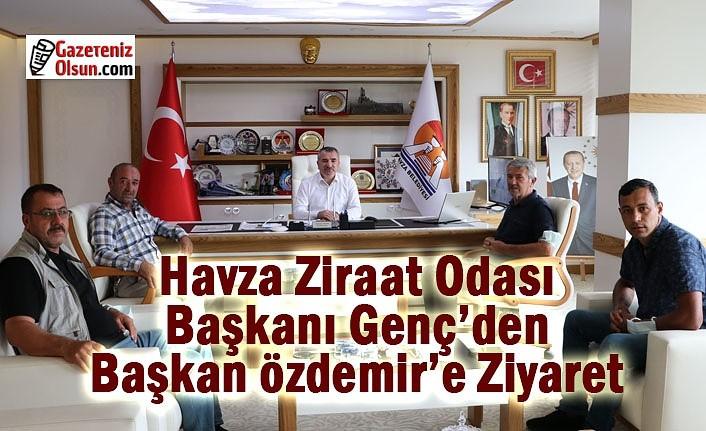 Havza Ziraat Odası Başkanı Genç'den Başkan Özdemir'e Ziyaret