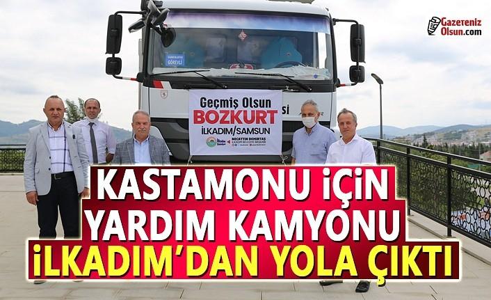 Kastamonu için yardım kamyonu İlkadım'dan yola çıktı