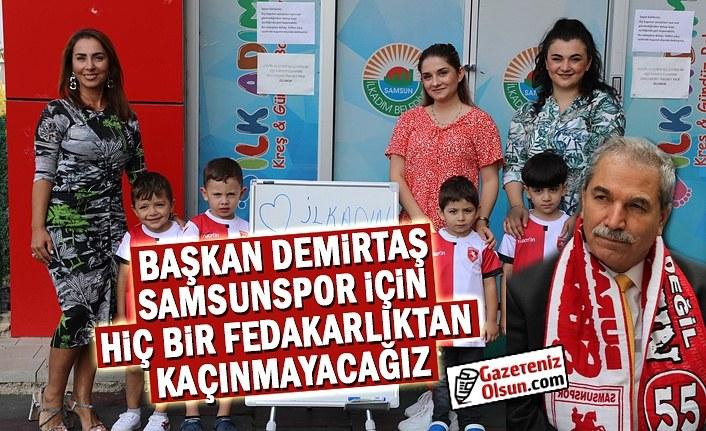 Minikler Kırmızı-Beyaz Formaları ile Samsunspor'a Moral Oldu