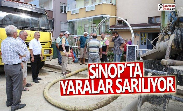 Samsun Büyükşehir'den Sinop'a Yardım Sürüyor