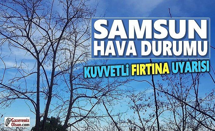 Samsun'da Kuvvetli Rüzgar ve Yağış Uyarısı
