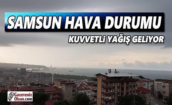 Samsun'da Kuvvetli Yağış ve Sel Uyarısı