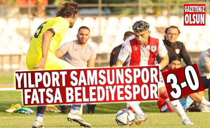 Samsunspor - Fatsa Belediyespor'u 3-0 yendi