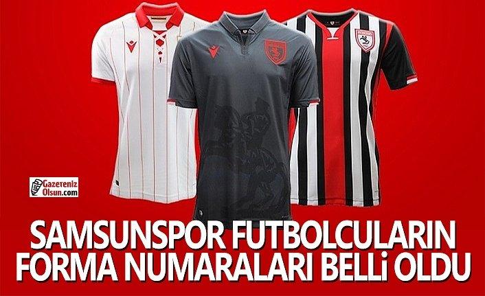 Samsunspor Futbolcu Forma Numaraları Belli Oldu