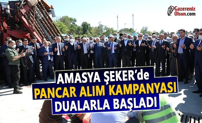Amasya Şeker'de 68. pancar alım kampanyası dualarla başladı