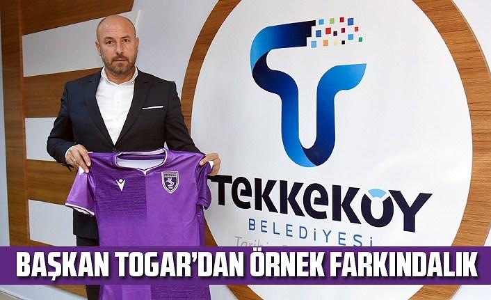 Başkan Togar'dan Samsunspor forması ile evrensel mesaj!