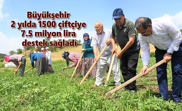 Büyükşehir Belediyesi'nden 7.5 milyon lira destek!