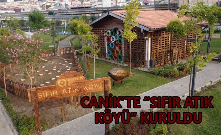 Canik'te sıfır atık köyü kuruldu