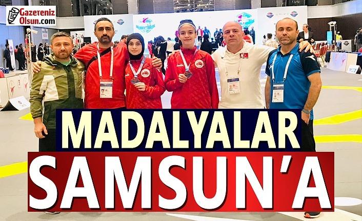 Madalyalar Samsun Büyükşehir'e