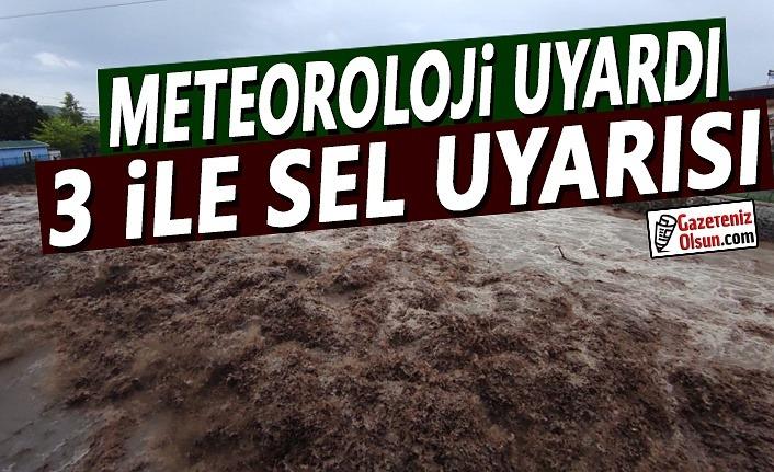 Meteoroloji Uyardı 3 İl için Kuvvetli Yağış ve Sel Uyarısı