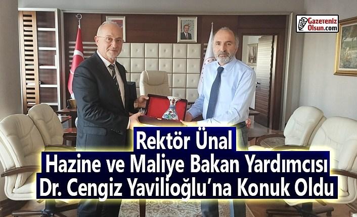 Rektör Ünal, Hazine ve Maliye Bakan Yardımcısı Dr. Cengiz Yavilioğlu'na Konuk Oldu