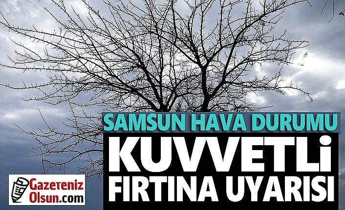 Samsun'a Kuvvetli Fırtına ve Sel Uyarısı