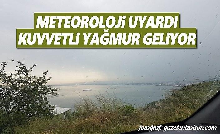 Samsun'a Kuvvetli Yağış Uyarısı