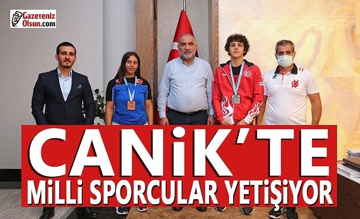 Samsun Canik'te Milli Sporcular Yetişiyor