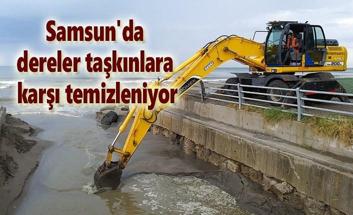 Samsun'da dereler taşkınlara karşı temizleniyor
