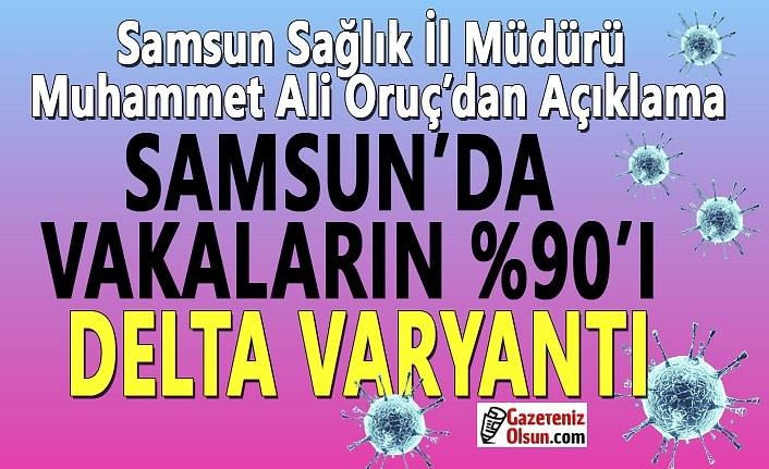 Samsun'da Vakaların yüzde 90'ı Delta Varyantı, Vakalarda artış devam ediyor