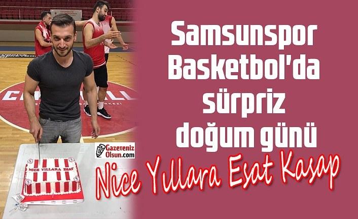 Samsunspor Basketbol'da sürpriz doğum günü