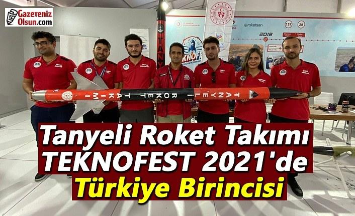 Tanyeli Roket Takımı TEKNOFEST 2021'de Türkiye Birincisi