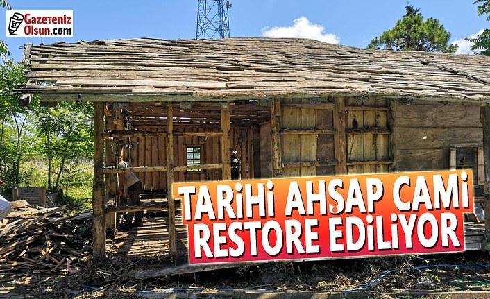 Tarihi ahşap camiye Büyükşehir'den restorasyon
