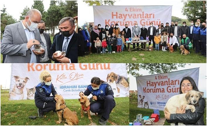 Canik Orman Okulu'nda Hayvanları Koruma Günü etkinliği
