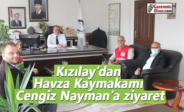 Kızılay'dan Havza Kaymakamı Nayman'a ziyaret