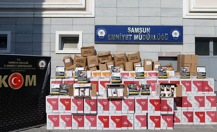 Samsun'da 4 milyon 230 bin bandrolsüz boş makaron ele geçirildi