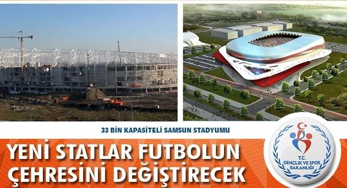 26 yeni futbol stadı projesinde sona doğru gelindi