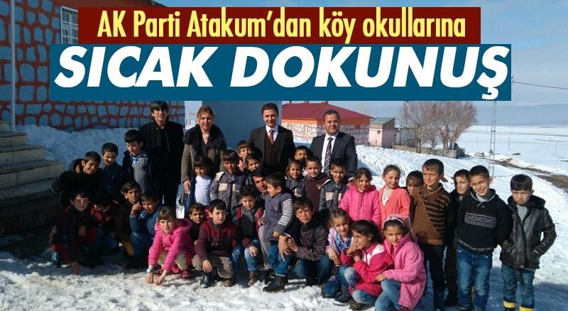 AK Parti Atakum'dan köy okullarına sıcak dokunuş