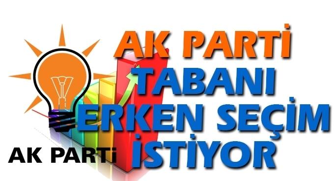 AK Parti'nin tabanı erken seçim istiyor