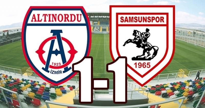 Altınordu Samsunspor maç sonucu : 1-1