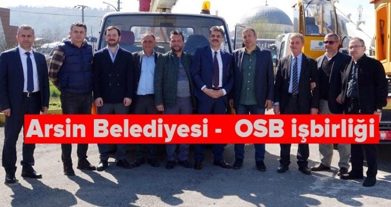 Arsin OSB'den Arsin Belediyesi'ne vinç