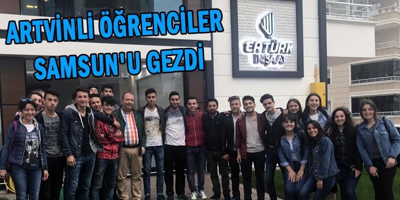 Artvinli öğrenciler Başkan Ertürk'ün misafiri oldu