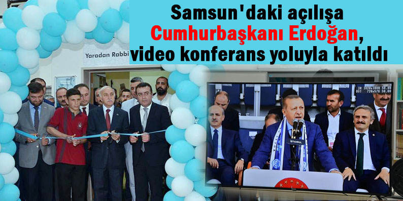 Atakum Anadolu İmam Hatip Lisesi kütüphanesi açıldı
