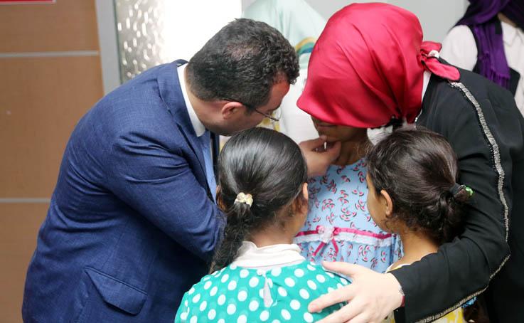 Atakum Belediyesi'nden mülteci çocuklara bayramlık sürprizi