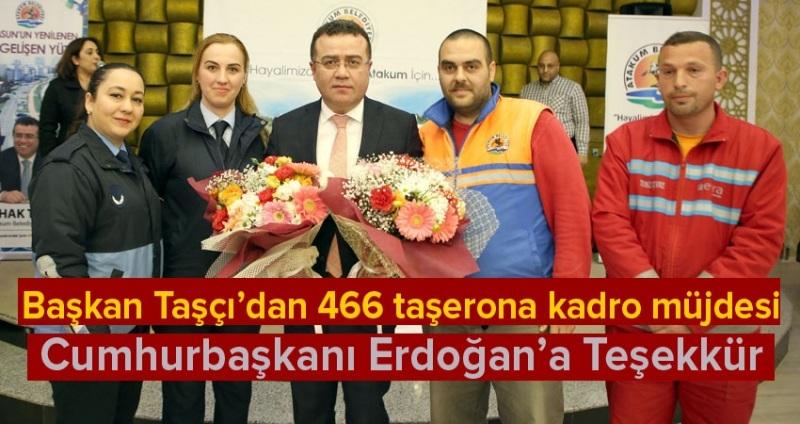 Atakum Belediyesi'nde 466 taşeron kadro aldı