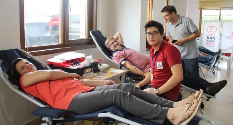 Atakum Garden Sitesi sakinleri kan bağışı ve kök hücre bağışında bulundular