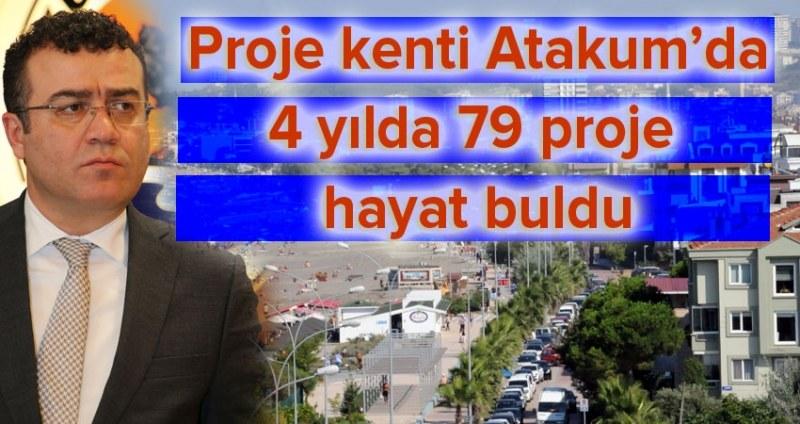 Atakum'da 4 yılda 79 proje hayat buldu